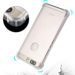 Wholesale Huawei Honor Soft Case - Air Cushion Non-Slip Bumper Corner Shockproof Clear Transparent Soft TPU Case For Huawei P9 P10 Plus P8 Lite 2017 GR5 Honor 6X Mate 8 9 Pro