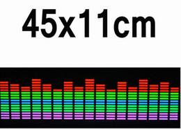 Wholesale Activated Equalizer Car - equalizer sticker 90*25 cm 5 Colour Rhythm EQ Sticker Music Equalizer on Car Windshield LED Sound Music Activated EL