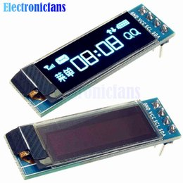 Wholesale Arduino Lcd Module - 0.91 Inch 128x32 IIC I2C Blue OLED LCD Display DIY Module SSD1306 Driver IC DC 3.3V 5V For Arduino PIC Free Shipping