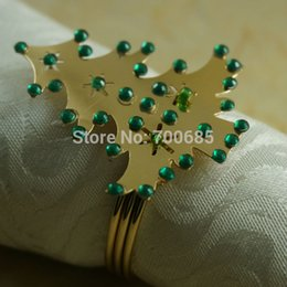 Wholesale Cheap Wholesale Napkin Rings - Wholesale- christmas napkin ring, crystal cheap decoration napkin holder