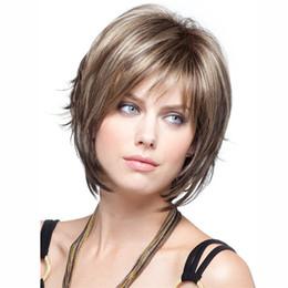 Perruque courte perruque de cheveux synthetiques perruque blonde pas chere pour femmes noires perruque thermorésistante ? partir de fabricateur