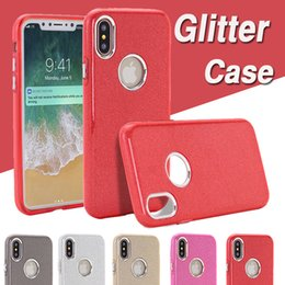 Wholesale Iphone Flash Skin - 3 in 1 Glitter Bling Case Shockproof Protective Hybrid TPU+ PC Luxury Colorful Flash Sparkling Back Skin Cover For iPhone X 8 7 Plus 6 6S