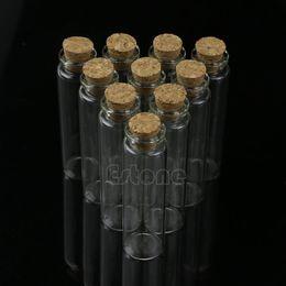 Wholesale Small Angels Sale - Wholesale- Hot Sale 10pcs 20mL Mini Small Tiny Clear Cork Stopper Glass Bottles Vials Wholesale