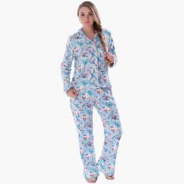 Wholesale Fleece Sleepwear Women - Wholesale- Ladies 2015 Winter Plus Size Warm Coral Fleece Lovely Floral Pyjama Sleepwear Suit Nightwear Pajama Set For Women