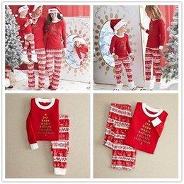 Wholesale Autumn John - Autumn Winter Warm Christmas Women Men Bbay Children Family Matching Outfits Pajamas Sleepwear Nightwear Long Johns Pajamas Set