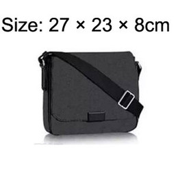 Wholesale American Style School Bags - DISTRICT PM High quality new 2 size famous Brand Classic designer fashion Men messenger bags cross body bag school bookbag shoulder bag