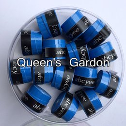 Wholesale High Quality Tennis Grips - Wholesale- (Blue)60 pcs Abcyee High quality amboss patternTennis Overgrip sticky feel Tennis Rackets Grips Badminton Overgrip