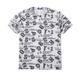 Wholesale 6xl T Shirts - Men's Plus Size T-shirts 2017 Summer Strong Man Letter Print Tees Men Short Sleeve Tshirt Tops Men Hip Hop Clothing Size XL-6XL A113