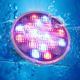 Wholesale par56 pool light led rgb - Wholesale- hot sale Stainless steel +PC remote control underwater light IP68 PAR56 72W RGB, AC12V 24V LED Swimming pool light safe in used