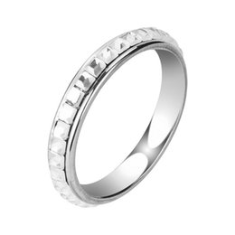 Wholesale Silver Plating Jewelry Ring Findings - Find Me 2017 punk Crystal Mosaic octagonal silver rings Irregular stainless steel rings for women jewelry fashion wedding gift wholesale