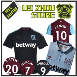 Wholesale Football Jeresys - New 2017 WestHam United Soccer Jersey 2017 18 Home Red Away White Soccer Jersey 17 18 West Ham Football Shirts Thai Quality Jeresys