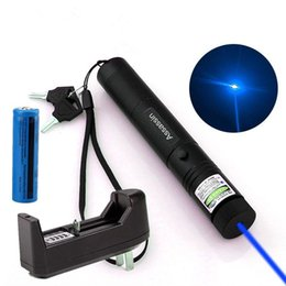 Wholesale Blue Laser Pen Charger - High Powerful Blue Purple Laser Pen Pointer 5nw 405nm 10Mile Cat Toy Laser Pointer + 18650 Battery + Charger