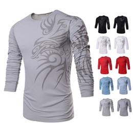 Wholesale Free Sporting Goods - Totems Printing Men's T Shirt Fashion Sport Shirt Long Sleeve O Neck Round Neck Printing Elastic Product Good Quality Free Ship TX71 TX73-R3