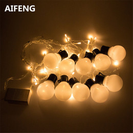 Wholesale Blue Light Bulb Cover - Wholesale- AIFENG 5CM party ball string fairy lights for bedroom balls bulb globe covers butterfly christmas icicle curtain LED warm white