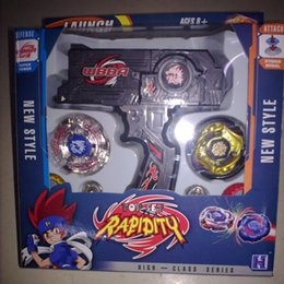 Wholesale New Beyblade Metal Fusion Toys - 1pcs New Clash Beyblade Metal Fusion Plastic Beyblade Spinning Tops Gyro Set Beyblade Spin Top Toy