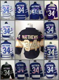 Wholesale Black Maple - 2017 New Draft Toronto Maple Leafs Jersey Blue 34 Auston Matthews Ice Hockey Jerseys Team Color Alternate All Stitched Best Quality