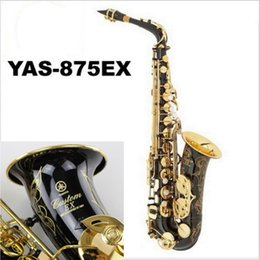 Wholesale Alto Professional - Wholesale-New Nickel Plated Black Saxophone Alto Sax YAS 875 EX Musical Instruments Professional E-flat Sax Alto Saxofone Saxophone