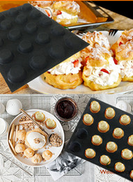 Wholesale Bun Small - 20 Forms 1 .96 Inch Diameter Circles Non Stick Silicone Baking Mold Perforated Small Bun Eclair Mould Round Bakery Bread Tray