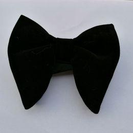 Wholesale Wholesale Ties Bowties - Lazo Gravata de casamento Vermelho de Veludo Masculino Mens Exclusivo Tuxedo Bowties Veludo Bowtie Bow Tie