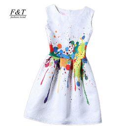 Wholesale slim dresses korea - new women printed flower dress sleeveless knee length one piece dress casual slim bodycon korea college vintage dress