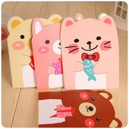Wholesale Little Notebooks Wholesale - Little Bear Notebook Creative Stationery Cute Animal Cartoon Notepad Available As Gift Portable Notebooks Four Color Selection 0 33xf F R