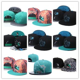 Wholesale Snapback Caps Sharks - Top Sale San Jose Sharks Snapback Hats Sport Hockey Caps NHL Unisex Sports Women Casquette Men Casual Headware Adjustable Mix Order