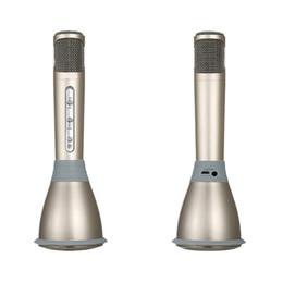 1 unids K068 Micrófono de Condensador de Reproductor de Karaoke Inalámbrico con Micrófono bluetooth Altavoz KTV Singing Record para Android IOS Teléfono Ordenador desde fabricantes
