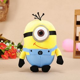 Wholesale Despicable Birthday - 20cm plush doll Despicable me Single eye suspender trousers mini yellow toy doll machine birthday present