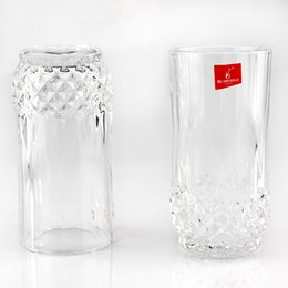 Wholesale Drinking Cups Birthday - glass Diamonds Beer Cups Heat resistant Cups Transparent Whiskey Cups Home Bar Birthday Party Beer Wine Whisky Drinking Glasses Cup