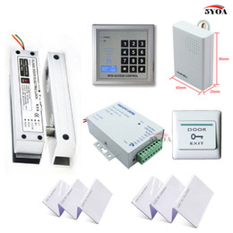 Wholesale electric bolt door lock - RFID Access Control System Kit Frameless Glass Door Set+Electric Bolt Lock+ID Card Keytab+Power Supply+Exit Button+DoorBell