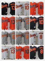 Wholesale Baseball Jersey Baltimore - Baltimore Orioles baseball jerseys Manny Machado 13 Cal Ripken Jr. Adam Jones Roberto Alomar Embroidery jerseys Majestic Flex Base jersey