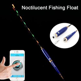 Wholesale Noctilucent Fish - Smart Noctilucent Fishing Float Bluetooth 4.0 Electronic Monitor Smart Fish Alarm Tools Suitable for IOS Android System 382MM
