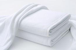 Wholesale Cotton Saunas - Luxury Large White Cotton Bath Towel Hotel Spa Beauty Foot Massage Sauna Towel Dryer Serviette Bain Free Shipping