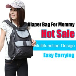 Wholesale Moms Bags - Wholesale-baby Black large capacity maternity backpack diaper backpack for moms Five-pointed star print mother travel nappy changing bag