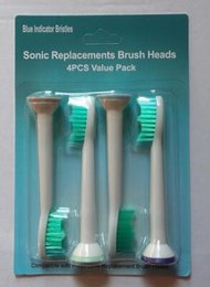 Wholesale Philips Sonicare Toothbrush Heads - 4Pcs Toothbrush Head Electric Toothbrush Tooth brush Replacement Heads Fits for Philips Sonicare P-HX-6014 HX6014 Hygiene