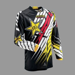 Wholesale Motocross Motorcycle Jersey - 2017 New Brand Motorcycle T-shirt Jersey Motocross Racing Downhill Off-road Mountain Bike Cycling T Shirt Long-sleeved Clothing M~XXL