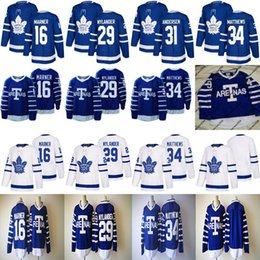 Wholesale Throwback Jerseys 34 - 1918 Arenas Throwback Jerseys 34 Auston Matthews 16 Mitchell Marner 29 William Nylander Toronto Maple Leafs Hockey Jerseys Cheap