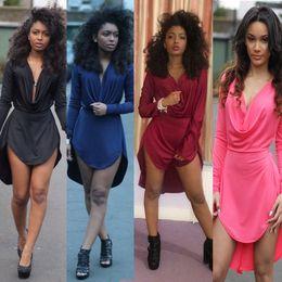 Wholesale Long Sleeve Womens Chiffon - women summer dress 2017 style black womens sexy bodycon dresses party night club dress long sleeve women casual dress ZF591