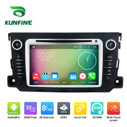 Wholesale Smart Tv Multimedia Player - Octa Core 1024*600 Android 6.0 Car DVD GPS Navigation Multimedia Player Car Stereo for Benz Smart 2012 2013 Radio with 3G Wifi frre map