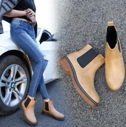 Wholesale Leather Motorcycle - Fashion Spirng Summer 3 Colors Brand New PU Leather Women ankle Martin short boots motorcycle flat Slip-on Shoes Plus size 35-43
