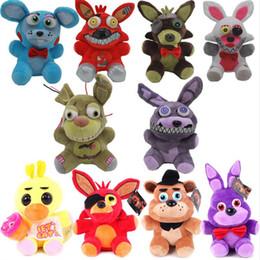 Wholesale Wholesale Plush Rabbit Toys - Free Shipping 18cm Five Nights at Freddys Bear Toys Anime Bear & Rabbit & Duck & Fox Stuffed Plush Dolls Cartoon Toy For Kids Children Gifts