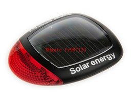 Wholesale Solar Energy Bike - Brand new Bike Bicycle Light Cycling Accessories Rear Lights Solar Energy Led Warning Lamp