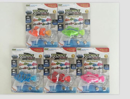 Wholesale Intelligent Fish - DHL Free shipping robot fish toys swimming electronic fish robo happy fish toy, baby shower intelligent machines clownfish