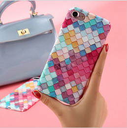 Wholesale Iphone Cases For Girls 3d - Luxury Fashion Colorful 3D Scales Phone cases For iphone 6 6s 7 Case Korean Girls Mermaid Back Cover For Apple iPhone 7 6 6s Plus