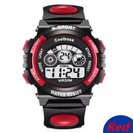 Wholesale Android Calendar - Student Watch Fashion Sport Children Watch Boys Girls LED Digital Electronic Wrist Watch Luminous Alarm Clock Calendar Water-resista