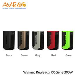 Wholesale power threading - Authentic Wismec Reuleaux RX GEN3 Box Mod 300W Powered by 18650 Batteries 510 Thread 0.96 Inch Display VS Wismec EX300 EXO