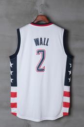 Wholesale Sport S Jerseys - #2 John Wall Mens Jerseys Top quality Size S-XXL Men Sport Jersey White