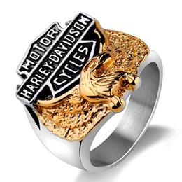 Anel de anel de aço inoxidável European e American Eagle de Fornecedores de anel de atacado