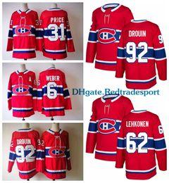 Wholesale Montreal Price - 2018 AD Montreal Canadiens 31 Carey Price 6 Shea Weber 92 Jonathan Drouin 62 Lehkonen Galchenyuk Pacioretty Shaw Gallagher Hockey Jerseys