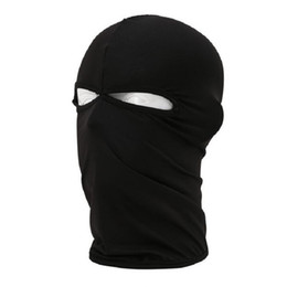 Wholesale Running Face Mask - Wholesale Comfortable BT Series Cycling Full Face Mask With 2 Holes Motorcycle Balaclava Running Mask Quick Dry Free Shipping